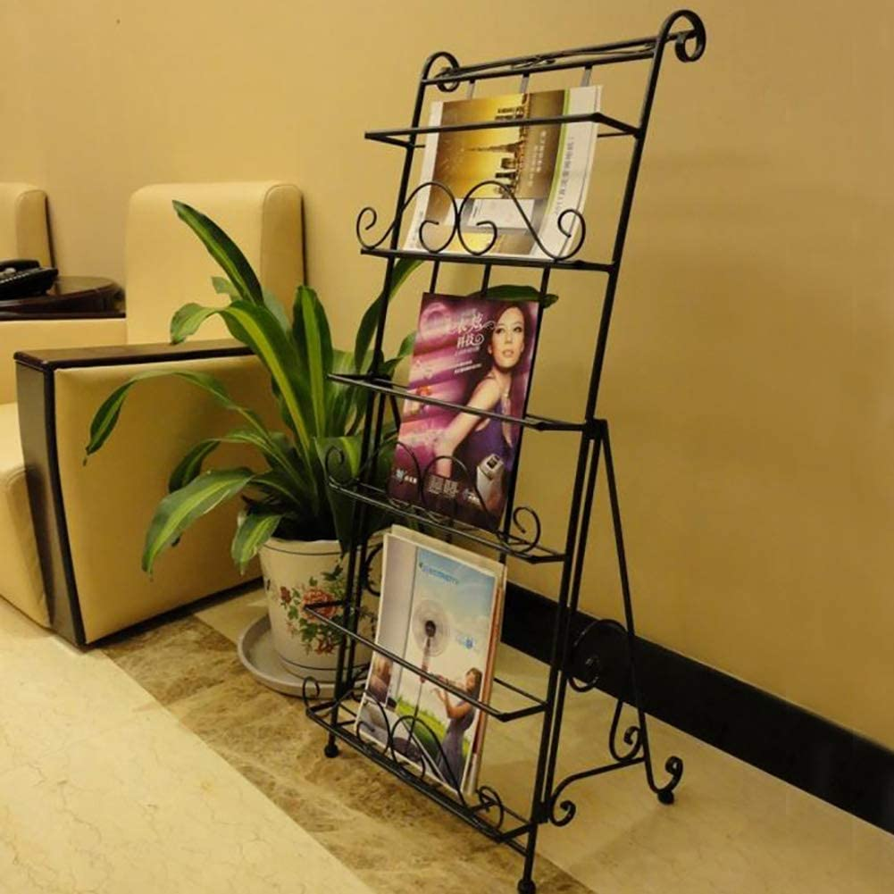 YLCJ Wrought Iron Magazine sold out Rack Cheap bargain Metal Book I Stand