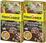 Floragard Schildkrötensubstrat 2x50l - natürliche Einstreu ohne Dünger - für