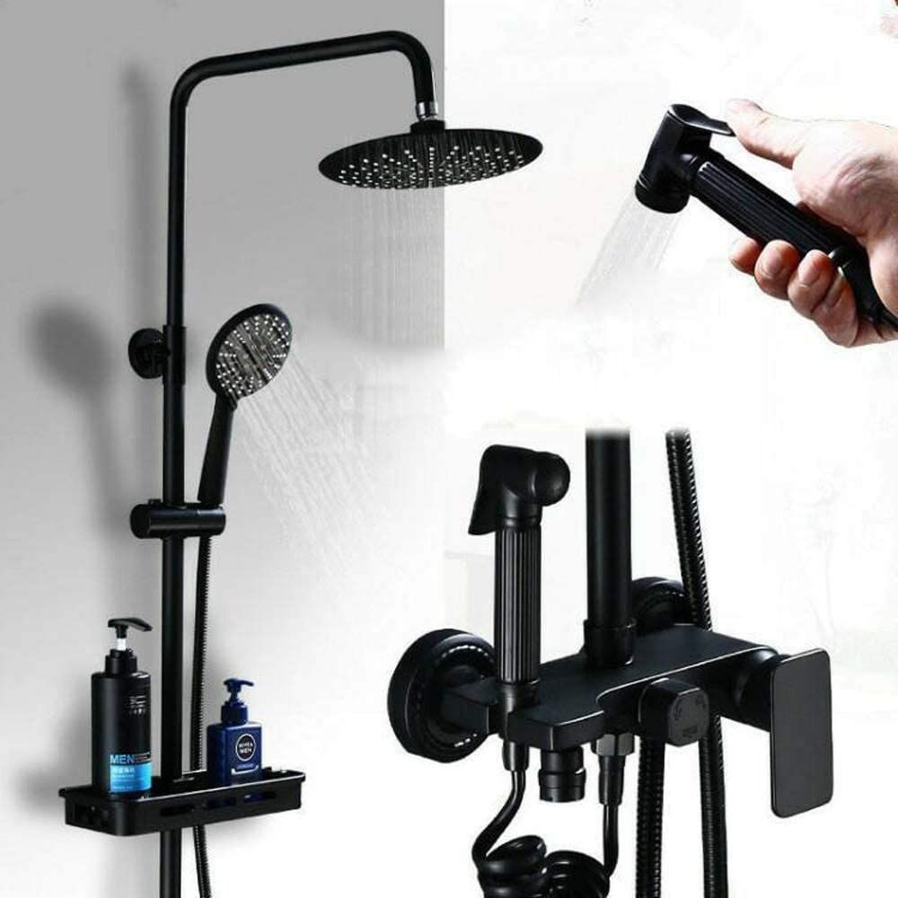 ZUQIEE Shower Set All-Copper Wal Quantity limited European-Style Black Ranking TOP13