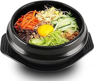 EgBert Coreano Dolsot Bowl Gran Tamaño Barro Olla De Piedra Bibimbap Cocina + Trivet Set Rice Bowl - 16
