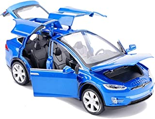 ONCEMORE by Diecast Model Cars Tesla Toy Cars Model X 90 Alloy Pull Back Toy Car with Sound & Light Toy Kids Toys