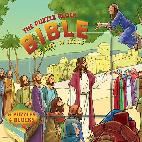Bible Game for Kid's, The Life of Jesus: The Puzzle Block Bible (Puzzle Block Bible) Hardcover (Puzzle Block Bibles)