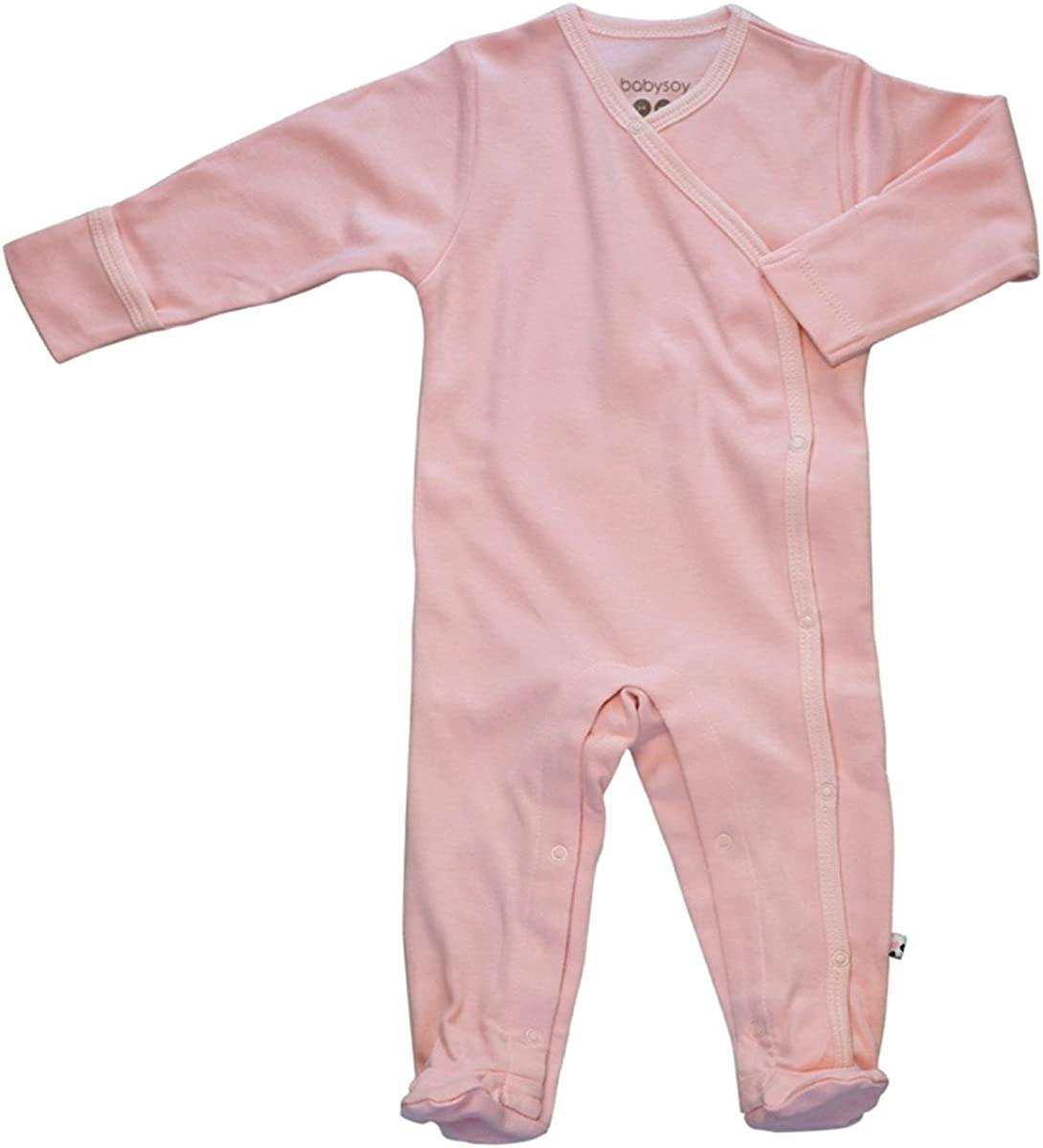 Babysoy Organic Long Sleeve Solid National uniform free shipping Footie Coverall Inventory cleanup selling sale