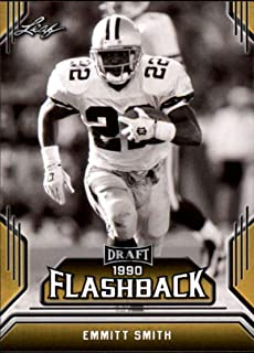2019 Leaf Draft Flashback Gold #6 Emmitt Smith Football Trading Card