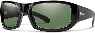Smith Bauhaus 20193080754M9 Mens Black Frame Gray Green ChromaPop Wrap Sunglasses