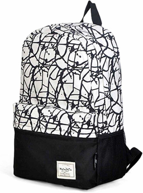 Teenager-Alter Mädchen Mode Cobweb Pattern Segeltuch-Schule-Beutel-Außen Knapsack B00VUH4DT6 | Verschiedene