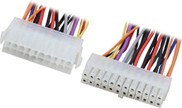 Nippon Labs POW-09206 Pentium 6-Inches 20 Pin Male to 24 Pin Female ATX Power Extension Cable