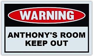 Novelty Warning Sign: Cristians Room Keep Out for Boys Children Kids Post on Bedroom Door 10 x 6 Plastic Sign Girls
