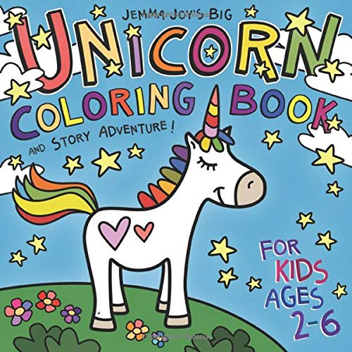 Unicorn Coloring Book and Story Adventure for Kids Ages 2-6
