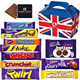 Cadbury Chocolate Bars - Milky & Creamy UK Chocolate with 10 FULL SIZE Chocolate bars of delicious Cadbury Chocolate in a Gift Box and a free Global Treats Choc & Pen