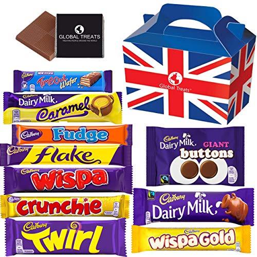Cadbury Chocolate Bars - Milky & Creamy UK Chocolate with 10 FULL SIZE...