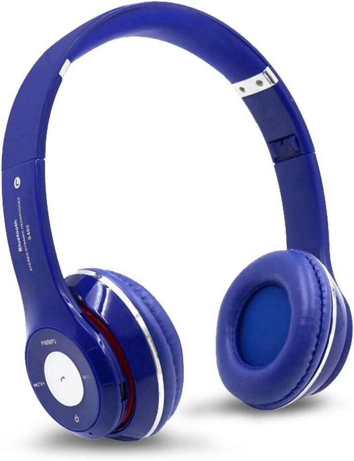 Ouguan S460 Wireless Bluetooth 3.0 Stereo Headphone Headset Earphone for Mobile Phone (Blue)