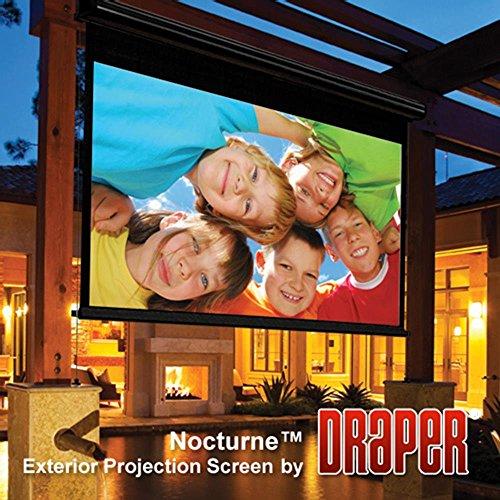 Outdoor Projector Screen Draper 138018 Nocturne/Series E 133 diag. (65x116) - HDTV [16:9] - Contrast Grey XH800E 0.8 Gain