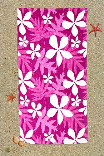I LIKE Toalla DE Playa Hawaiian 100% ALGODÓN 90 x 160 cm - Fucsia