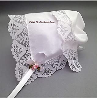 Garden Party Lace Keepsake Handkerchief Bonnet