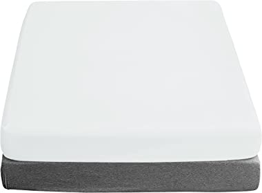 """Almach Cotton Satin King Bed Fitted Sheet - White - 1 Piece - Oeko Tex Certified - Breathable Cool Crisp - Fits Up to 15"""""""