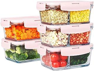 LINGLING Cuisine en verre alimentaire Contianer Container Set Sets Sets alimentation Rangement et organisation Odeur Preuv...
