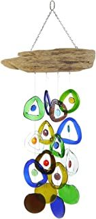 recycled wine bottle chimes