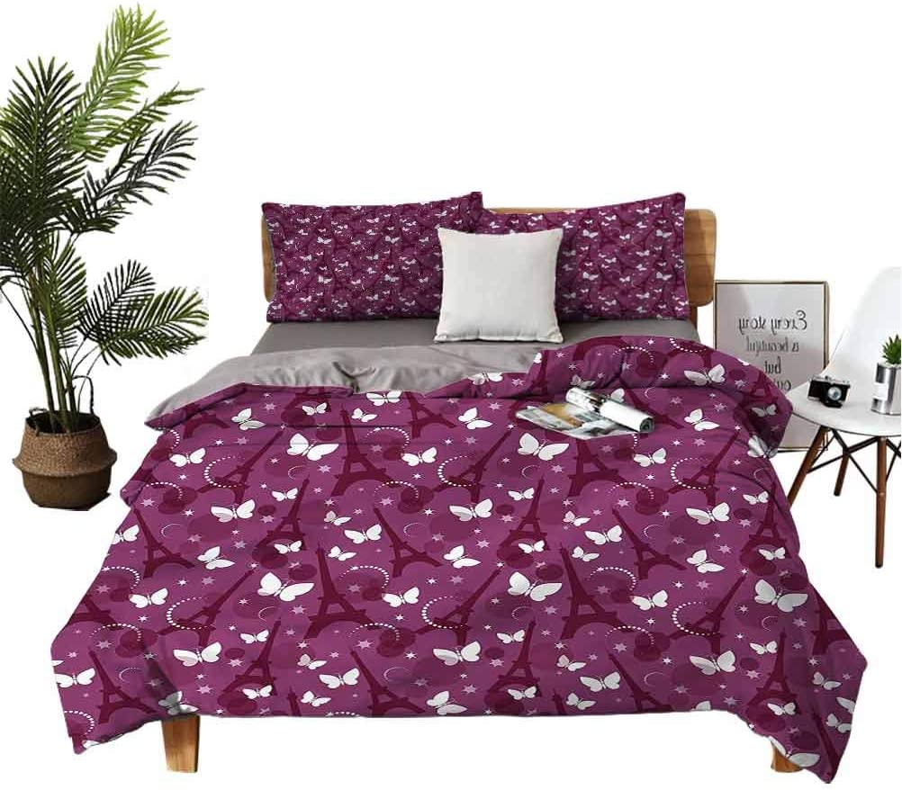Eiffel 3-Piece Bedsheets and Super sale Abstract Butterflies Max 74% OFF Pillowcases Un