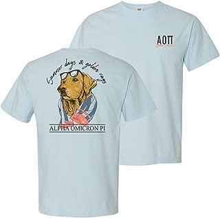Alpha Omicron Pi Blue Comfort Colors Retriever Tee