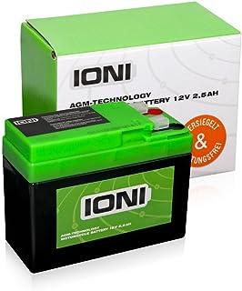 Batterie 12V 2,5Ah AGM IONI (ähnlich YTR4A-BS) (versiegelt/wartungsfrei) preisvergleich preisvergleich bei bike-lab.eu