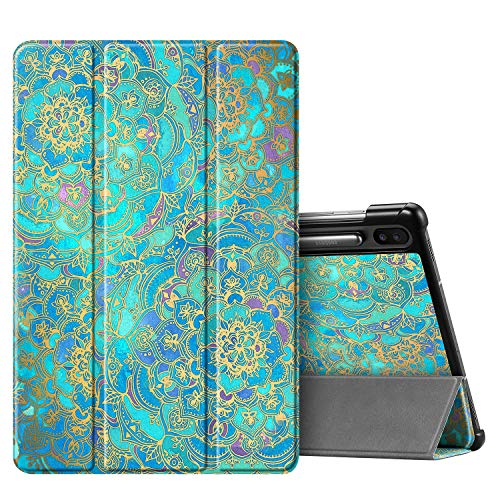 Fintie Slim Case for Samsung Galaxy Tab S6 10.5\' 2019 (Model SM-T860/T865/T867), [Supports S Pen Wireless Charging] Tri-Fold Stand Cover Auto Sleep/Wake, Shades of Blue