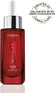 Pure Glycolic Acid Face Serum By L'Oreal Paris Skin Care I Revitalift Derm Intensives 10% Pure Glycolic Acid Serum I Dark Spot Corrector To Even Tone & Reduce Wrinkles I 1.0 Oz