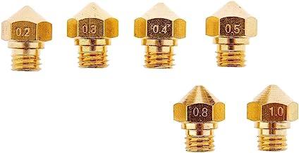 Sponsored Ad - 3D Printer M7 Thread MK10 Nozzles for 1.75MM Filament .2mm .3mm .4mm .5mm .8mm 1.0mm (1 Each) Wanhao Dupica...