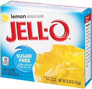 JELL-O Sugar Free Lemon Gelatin Dessert Mix (0.3 oz Box)