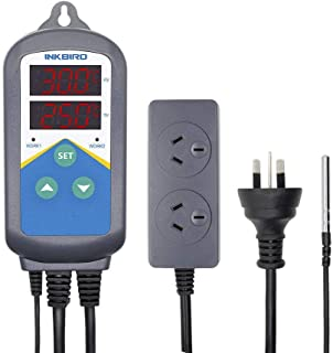 INKBIRD AU Plug ITC-306 Temperature Controller Timer Plug & Play Heating ONLY Greenhouse Seed Starting Hydroponics Grow Tent