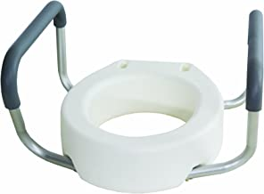 Essential Medical Supply Toilet Seat Riser with Removable Arms - Standard Bowl