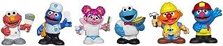 Sesame Street Friends at Work Figure Set with Elmo, Grover, Abby Cadabby, Cookie Monster & Ernie