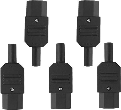 2021 Larcele C13 AC Female Power Connector 3 Terminals Power high quality Adapter discount Socket 5 Pcs DYCT-01 online sale