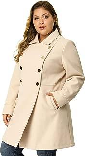 Yoki Girls Purple Faux Wool Double Breasted Pea Coat Size 4 5//6 6X $72