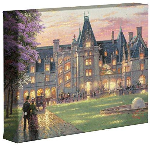 Thomas Kinkade Elegant Evening at Biltmore 8' x 10' Gallery Wrapped Canvas