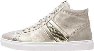 Nero Giardini P907575D Sneakers Montantes Femme en Cuir Et Toile