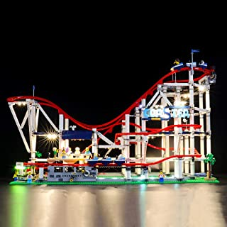 BRIKSMAX Led Lighting Kit for Roller Coaster - Compatible with Lego 10261 Building Blocks Model- Not Include The Lego Set