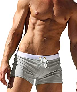 KOLY Mens Traspirante Swim Trunks Pantaloncini da Bagno Slim Wear Bikini Slip da Bagno Costumi da Bagno Pantaloncini Trunks Beachwear Pantaloni Sport Acquatici Costumi da Bagno da Surf