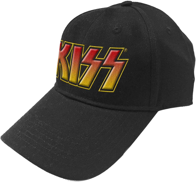 KISS Baseball Cap Classic Band Logo Official Black Snapback Size One Size