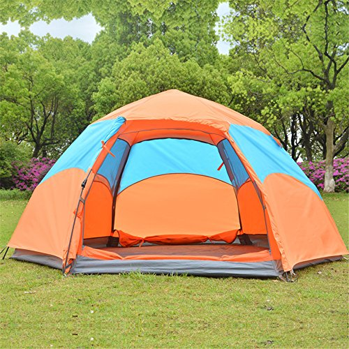HONEYY Full-Automatique tentes Piscine 3-5 Lits superposés Plus NPC Tente Tente de Camping Pluie Hexagonal 220 * 220 * 140 cm