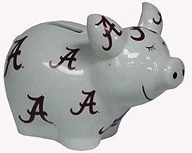 NCAA Alabama Crimson Tide Piggy Bank with All Over Logo
