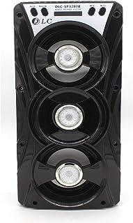 مكبر صوت بلوتوث محمول قابل لإعادة الشحن 12 وات، DLC-SP-3207B، مصباح ملون، راديو FM SD، مشغل MP3 USB