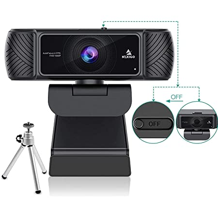 NexiGo 1080P 60FPS Webcam with Microphone for Streaming, Advanced AutoFocus, w/Privacy Cover and Tripod, N680P Pro Computer Web Camera for Online Learning, Skype Zoom Teams, Mac PC Laptop Desktop