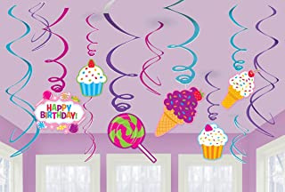 amscan Candy Land Birthday Party Sweet Shop Swirl Decorations, Multicolor,