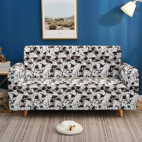Gpink Funda De Sofá Decorativa con Estampado Animal Funda De Sofá Universal De Impresión Digital 3D Funda De Sofá De Combinación Simple Y Doble para 3 Personas Y 4 Personas
