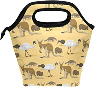 ALAZA Insulated Lunch Tote Bag Australia Wild Animals Cooler Picnic Lunch Box for Women Boys Girls