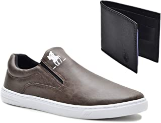 Tênis Slip On Casual Polo Plus Masculino Extra Macio + Carteira
