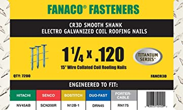 釘打ち機用コイル釘 15 DEG COIL ROOF 1 1/4 x .120 EG 7.2M (6)