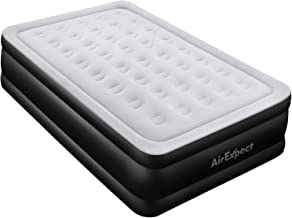 Queen Air Mattress with Built-in Pump - AirExpect Upgraded 0.7mm Thickness Leak Proof Inflatable Mattress Double High Elevated Airbed Blow up Bed for Guests, 80×60×19 Inches, 2-Year Warranty