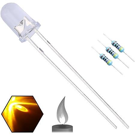 25 LED Diodes 5 MM Orange Amber High Brightness Free Resistors
